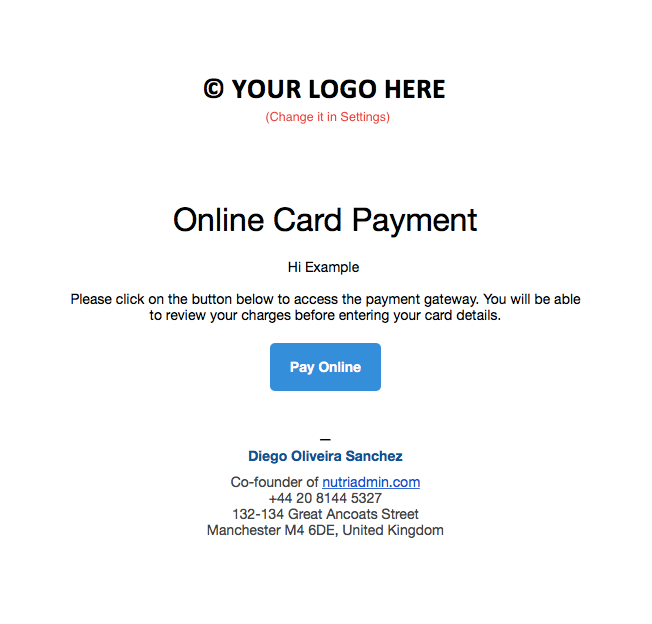 Request Online Payments from your Clients with One Click